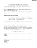 Security Code Request Form