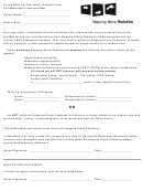 Young Adult Confidentiality / Release Form