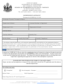 Supervisor's Affidavit - State Of Maine Department Of Professional And Financial Regulation