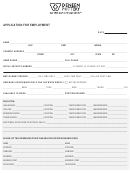 Application For Employment (sample)