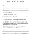 Photo & General Release Form