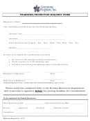 Transfer/promotion Request Form