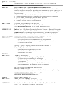 Event Planning/public Relations/media Relations/communications Resume Template