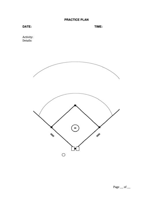 Baseball Practice Plan Template