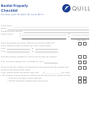 Rental Property Checklist Template