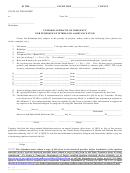 Uniform Affidavit Of Indigency