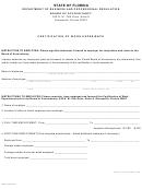 Dbpr Form Cpa 32 - Certification Of Work Experience
