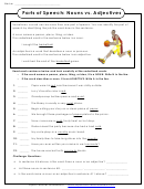 Parts Of Speech: Nouns Vs. Adjectives - English Grammar Worksheet With Answers