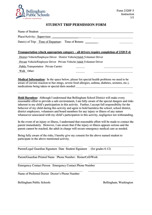 permission form template