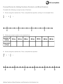 Concept Review For Adding Fractions, Decimals And Mixed Numbers Worksheet Template