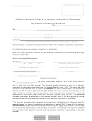 Form T-19c - Affidavit Of Authority To Sign For A Company, Corporation Or Partnership