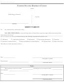 Form Ao 442 - Arrest Warrant - United States District Court