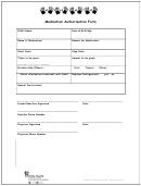 Medication Authorization Form