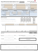 Payroll/personnel Authorization Form