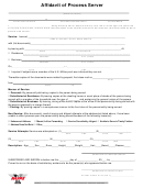 Affidavit Of Process Server Template (fillable)