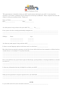 Student Conference Form - Our Montessori School