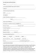 Player Registration Form - Junior Hockey Network