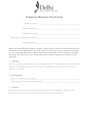 Telephone Reference Check Form - Delhi State University Of New York