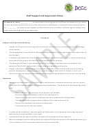 Staff Support And Supervision Policy Template - Sample