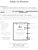 Adopt-an-element (chemistry Worksheet)