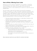 Sample Winning Cover Letter Template
