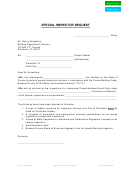Special Inspector Request Letter Template