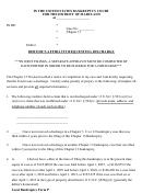 Debtor's Affidavit Requesting Discharge