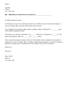 Proposal To Settle Account Letter Template