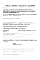 Sample Petition Letter Template For Confirmation Candidates