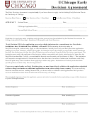 Uchicago Early Decision Agreement - College Admissions