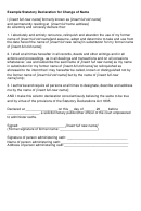 Example Statutory Declaration For Change Of Name Form