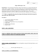 Paper Helicopter Lab Report Template