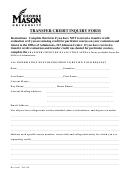 Transfer Credit Inquiry Form - George Mason University