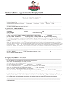 Application For Employment Form