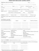 Personal Health History Template - Radiation Oncology