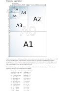 European Iso Paper Sizes Chart