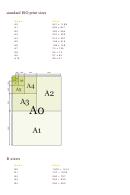 Standard Iso Print Sizes Chart