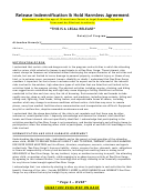 Release Indemnification & Hold Harmless Agreement Template