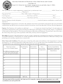 American Federation Of Musicians Of The United States And Canada - Contract