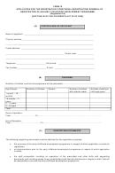 Form 16 Application For The Registration/ Conditional Registration/ Renewal Of Registration Of An Early Childhood Development Programme