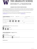 Request For Letter Of Certification - Uw Graduate School