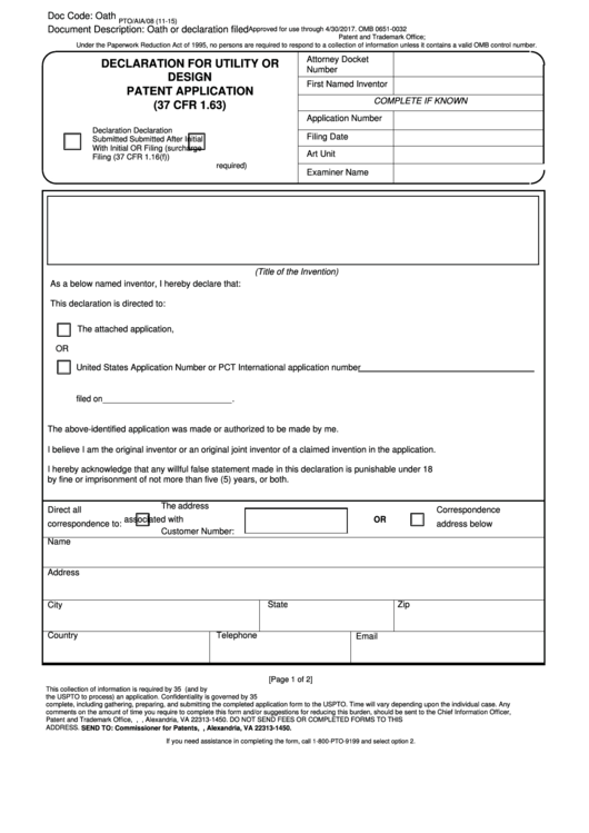 utility patent application template - 18 patent application form templates free to download in pdf