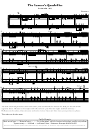 The Lancer's Quadrilles - Ladoiska (sheet Music) - Kruetzer