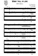 When I Fall In Love (sheet Music) - E. Heyman, V. Young