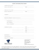 Client Information Sheet - First Wealth Financial Group
