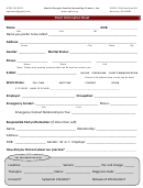 Client Information Sheet - North Georgia Family Counseling Centers