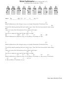 Mele Kalikimaka (ukulele Sheet Music, Key Change Bb To C) By Robert Alex Anderson