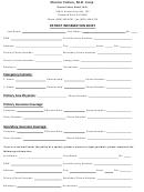 Patient Information Sheet - Shariar Cohen, M. D. Corp