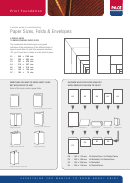 Pace Paper, Folds & Envelopes Size Chart