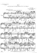 Air (from The Suite For String Orchestra, No 3) By Bach Sheet Music